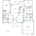 Plan: 2051 square foot custom home, 4 bedroom, 2 bath, 2 car garage