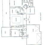 Plan: 2302 square foot custom home, 3 bedroom, 2 bath, 3 car garage
