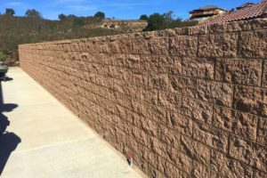 Finished property line block wall