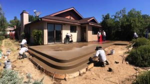 Back deck pours for stamp job