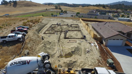 Concrete foundation: Capps also does concrete contracting
