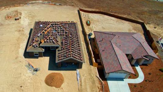 before and after terra cotta tiles roofing