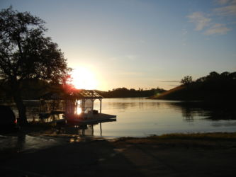 Another breathtaking sunset on Lake Nacimiento marina