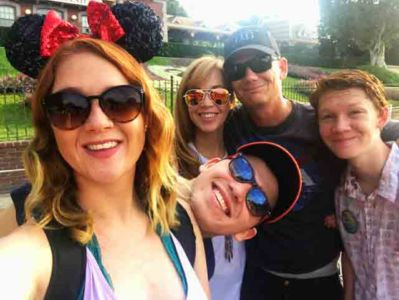 Capps family at Disneyland
