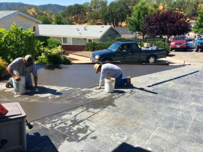 Concrete & stamp job driveway