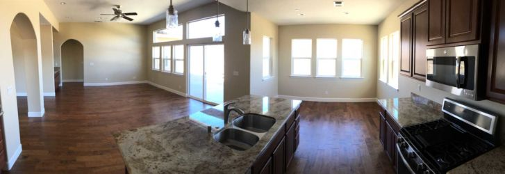 Model Home kitchen panorama