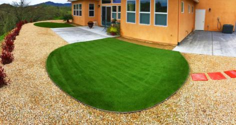 Water wise lawn artificial turf install