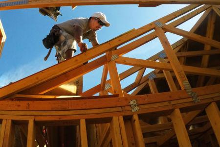 Custom home: roofing framing