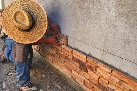 Masonry: cultured stone install